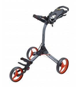 BagBoy Compact 3 Push Cart Gray / Orange Color