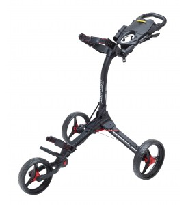 BagBoy Compact 3 Push Cart Black / Red Color