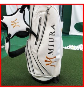 2015 New Miura Golf Tour Stand Golf Light Bag Limited Ed White $500